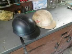 Vintage Cork motorcycle helmets