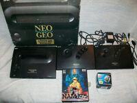 Neo Geo AES (Japanese, boxed) Extra moddified joystick plus NAM1975
