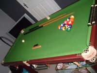 6 ft slate bed pool table