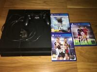 PS4 1t + controller + games