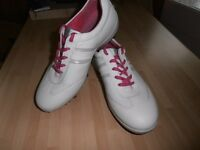"""NEW """" ECCO """" Ladies Leather Golf Shoes, UK 6 ,"""