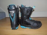"BURTON ION SNOWBOARD BOOTS SIZE UK10 ""ONLY 6 DAYS USE"""