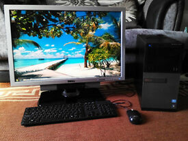 "Dell 3010 intel i5 PC with Dell 2707WFP 27"" Ultrasharp monitor/ Windows 7 pro 64 bit etc"