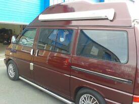 VW T4 1996 Camper Van, Caravelle high top, Auto, Red