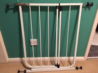 Stair Gates x 2 - fully adjustable to fit stairs / doors as needed