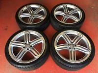 20'' GENUINE AUDI A6 S LINE SEGMENT RS6 ALLOY WHEELS TYRES A5 A4 5x112