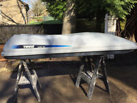 Thule Alpine 900 top box, 630litre capacity. Used but in fair condition, with keys. £90