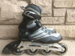 Like NEW Salomon Fitness Inline Skates (Rollerblades) 80mm/80A Wheels ABEC-5 Women's Size 6.5