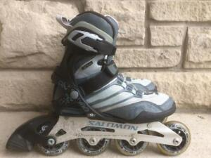Like NEW Salomon Fitness Inline Skates (Rollerblades) 80mm/80A Wheels ABEC-5 Womens Size 6.5
