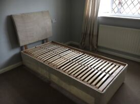 Electric single bed frame