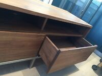 CRATE & BARREL - TV Stand / Media Console - Solid Walnut Wood - Excellent Condition