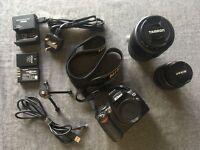 Nikon D40 Digital Camera (black) + Nikon 18-55mm Lens + Tamron AF 70-300mm + Kit