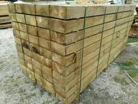 8 x 4 Tanalised Garden Sleepers (200mm x 100mm) 2.4mtr Lengths