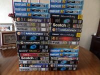used vhs video tapes x33