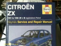 CITREON ZX, 1991-1998 (H toS reg) Service and Repair Manual.
