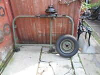 vintage motorcycle side car chassis. watsonian sv easifit. for project or restore.
