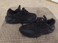 Triple black haurache trainers