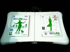 NINTENDO WII FIT BOARD AND 2 GAMES GOOD CONDITION