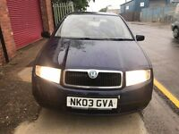 5 doors... Skoda Fabia... Long M.o.t... new Titres... Nice Clean Car In and Out.. !!