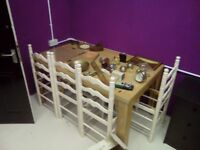4 chair frames wooden, ideal shabby chic project