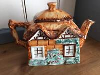 Hand painted cottage teapot