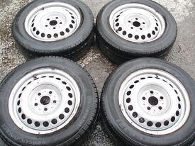 Set steel wheels VW T5 205/65/16 Tread 4-6mm Delivery available