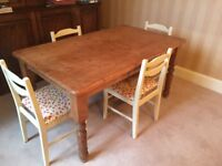 Vintage solid pine kitchen table