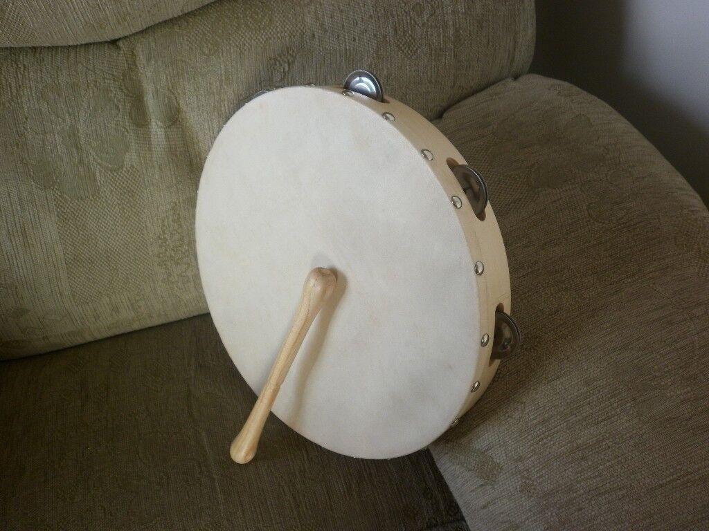 """Tambourine Drum 12"""" with beater"""
