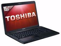 TOSHIBA C660 / INTEL i3 2.40 GHz/ 8 GB Ram/ 320GB HDD/ WIRELESS/ WEBCAM/ WINDOWS 10