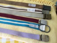 Large selection of belts