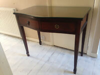 Solid wood writing desk