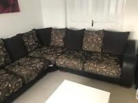 Scs corner sofa with 2 seater and puffet
