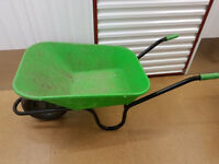 Green wheel barrow only lightly used