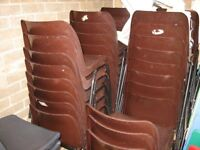 STACKABLE CHAIRS GOOD CONDITION 50-60 IN TOTAL
