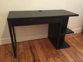 Black IKEA writing desk