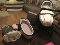 Egg pram/buggy/stroller carrycot and more