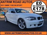 2011 BMW 118D M-SPORT ** FULL LEATHER ** FINANCE AVAILABLE WITH NO DEPOSIT **