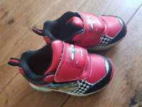 Toddlers size 5 light up cars trainers