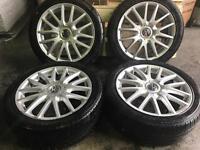 """Volkwagen golf GT / jetta classix 17"""" alloy wheels and tyres"""