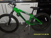 "Raleigh Max Mountain Bike 21 speed, front suspension, disc brakes. 26"" wheels & 14"" frame. (Reading)"