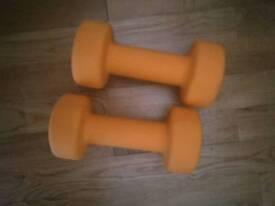 3 kg Neoprene coated iron bumbbells