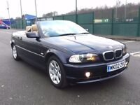 2002 BMW 318 CI CONVERTIBLE * 2 OWNER * FULL HISTORY * 1 YR MOT * PX WELCOME * DELIVERY *