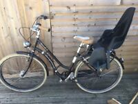 Selling my wife's Bergamont Summerville N3 city bike with Bobike child seat attached