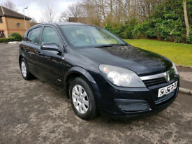 AUTOMATIC VAUXHALL ASTRA 2006 IN BLACK . 1 YEAR MOT . LOW MILEAGE . EXCELLENT DRIVE . BARGAIN