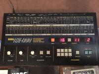 KORG EX-800 Original Vintage Analog Synthesizer MIDI , manual, rack ears, cassette