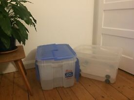4x large and sturdy storage boxes