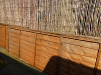 6 fence panels 6' x 3' used briefly..