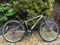 Lovely 18-gear hybrid bike for a child aged 8-14