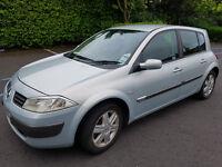 2004 Renault Megane 5 Door Diesel Hatchback Car.