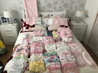 Large Bundle of Baby Girls Clothes - sizes are tiny baby, newborn & up to one month